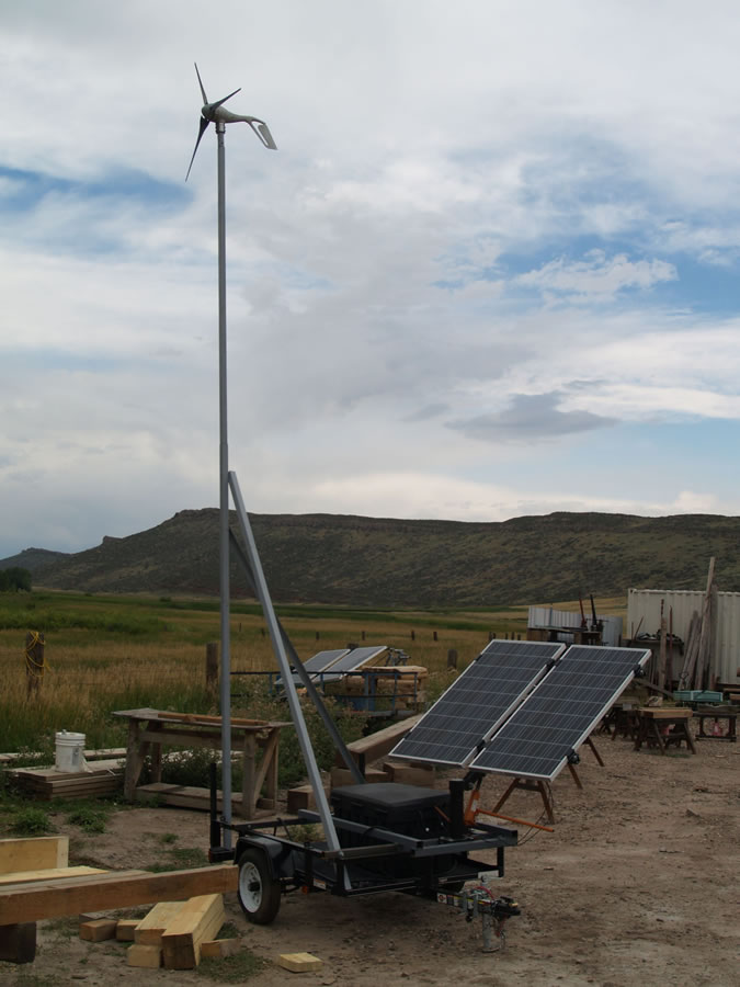 Portable Solar Wind Power Generator