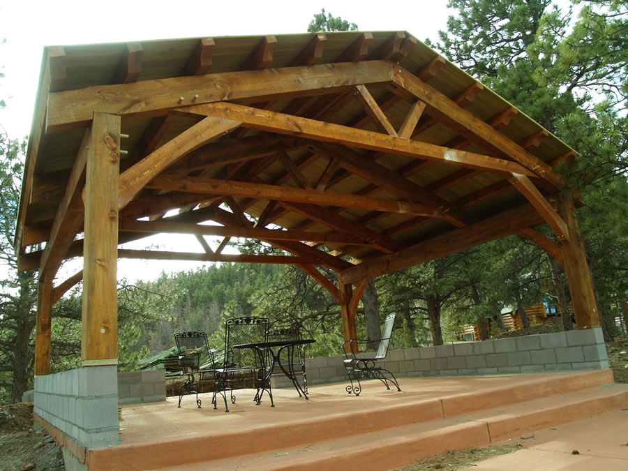 Timber frame pavilion brewster timber frame company for Average cost to build a pavilion